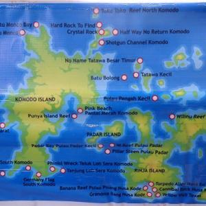 コモド諸島のダイビングポイント【北側】