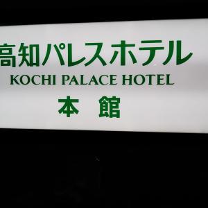 【高知市内】高知パレスホテルとその周辺(鰹のたたき、夜の高知城)を紹介
