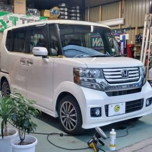 N-BOXカスタム 納車準備