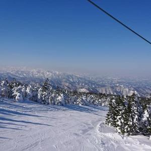 快晴の天元台スキー場でまさか・・・