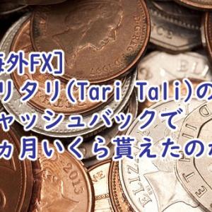 タリタリ(Tari Tali)のキャッシュバック額は1か月いくらだったのか?