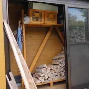 風除室の薪を半減する