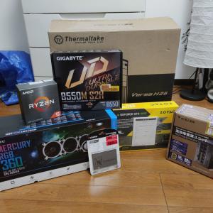 余っていたパーツとRyzen5 5600Xで新しいPCを組みました!!
