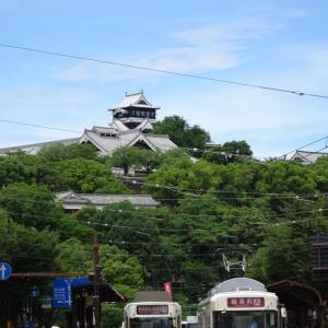 青空に熊本城を眺めながら 緑のマイスター養成講座