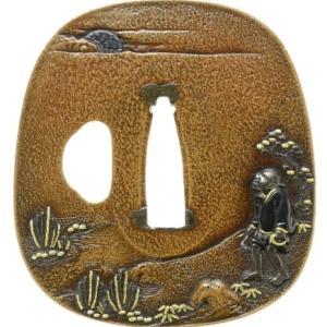木賊刈図鐔 政春 Masaharu Tsuba