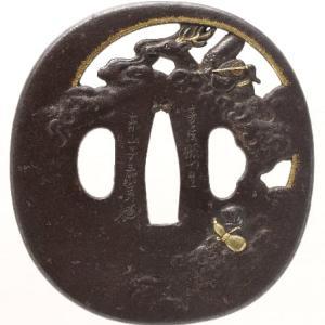 福禄寿図鐔 寿秀 toshihide tsuba
