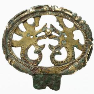 龍図環頭太刀金具 古墳時代 Kantotachikanagu