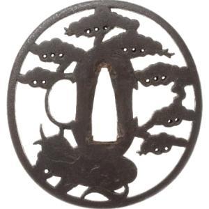 松樹に牛図鐔 西垣勘平 Kanpei Tsuba