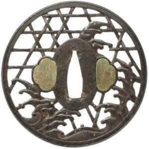 蛇籠図鐔 記内 Kinai Tsuba