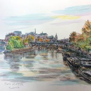 今日の一枚も、パリのセーヌ川。