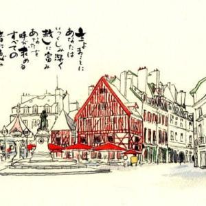 フランソワ・リュード広場 世界わがスケッチの旅 フランス