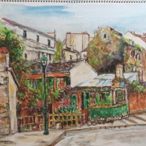 パリの路地裏スケッチ旅 フランス