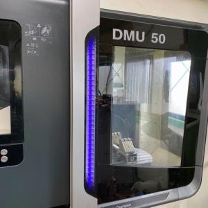 5軸マシニングセンタの破損した扉の修理が完了 【DMU50】