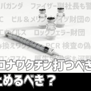 コロナワクチンは今打つべきか?打たないべきか?PCR検査のデタラメとワクチンの本当の恐怖とは!?