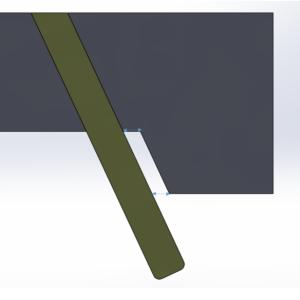 スライドの角度とアンギュラピンの角度は同じではダメ