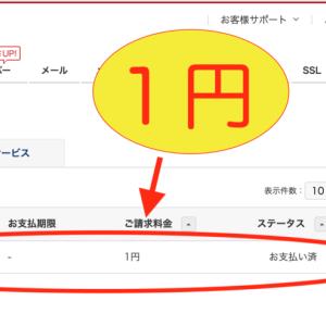 初心者は気をつけよう!お名前.comを契約してしまい困惑。1円に飛びついて反省。