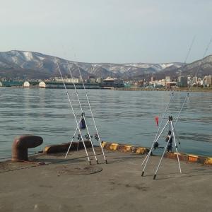 粘りと諦めの釣り・・・。4月18日、小樽港にて・・・。