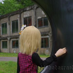 炭鉱メモリアル森林公園にある安田侃さんの彫刻三点