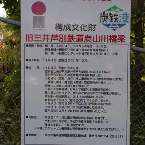 旧三井芦別鉄道 炭山川橋梁