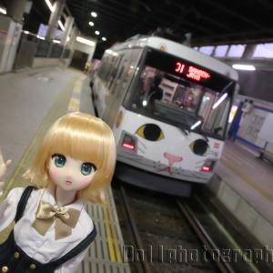 幸福の招き猫電車(東急世田谷線)