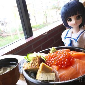 サーモン、いくら丼(留萌 荒磯寿司)