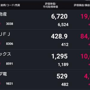 三菱UFJフィナンシャルと神戸物産を売却