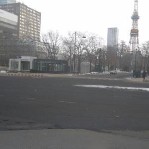 🐻雪不足の札幌市内❕
