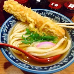 「釜たけうどん」は素朴で優しい出汁と天ぷらが美味しい。ちくわ天は欠かせないようです。