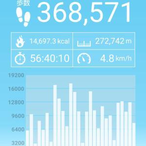 二月のお散歩距離は270kmオーバー!また年間3000kmは行けそうだが、感覚鈍麻が大きな壁になりつつある?
