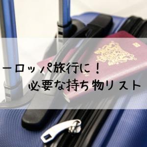 【海外旅行に役立つ】ヨーロッパ旅行に必要な持ち物リスト