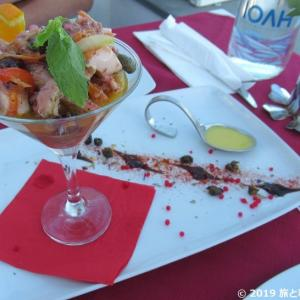 サントリーニ島イアのお洒落ディナーなら【1800-Floga Restaurant】 記念日に行きたい!