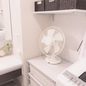 洗面所の扇風機に‥