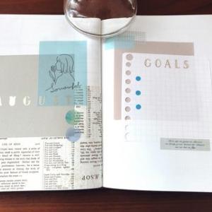 【BUJOで小さなゆとりを】8月の手帳