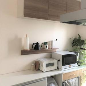 【キッチン】無印の壁に付けられる棚♪