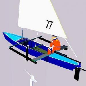 ドゥマゲティ暮らし、小型ヨット。