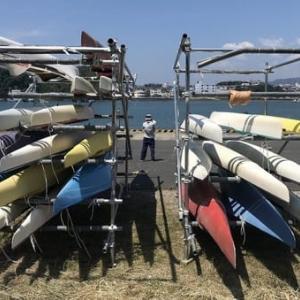 文里港 田辺の高校ボート部艇庫