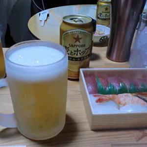 家のみ「西村晃さんの水戸黄門」を観ながら、「や台ずし」の握りで一杯!📷ぶらり旅09-21