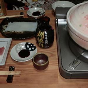 「七人の秘書」を観ながら、鶏のつくね鍋で一杯!📷ぶらり旅【おうち居酒屋】11-26