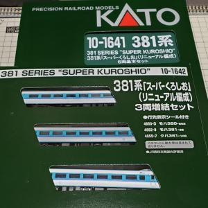色々言われてますが…[鉄道模型]入線記録 381系「スーパーくろしお(リニューアル編成)」