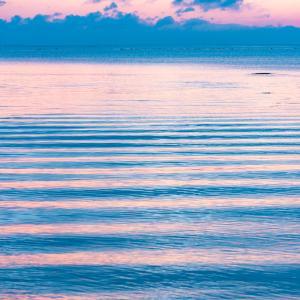 初夏の静かな海:雨晴海岸