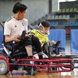 藤枝市民体育館「電動車椅子サッカーの交流試合」見てきました!