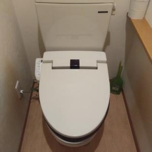 温水洗浄便座の交換です。