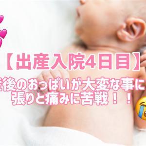【出産入院4日目】産後のおっぱいが大変なことに!!張りと痛みに苦戦!