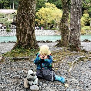 【日本アルプスの絶景・上高地】3歳幼児と歩く河童橋