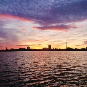 アルスター湖でボートクルーズ【ドイツ・ハンブルク】
