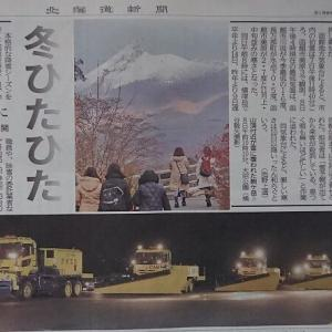 道南爺様日記 初雪 駒ケ岳真っ白2019-11-08