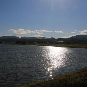 道南爺様日記 夕暮れの大野平野から峩朗鉱山20200606