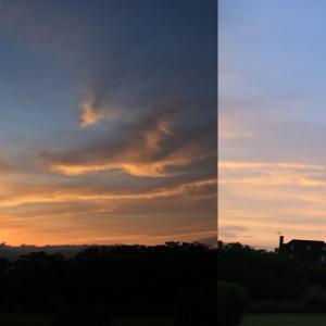 道南爺様日記 今日の夜明け 大野川河川敷 20200612