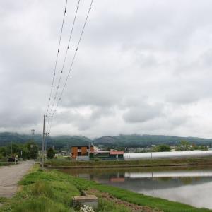 道南爺様日記 田植え直前の 逆さ景色はえる七飯町緑町2021-05-24