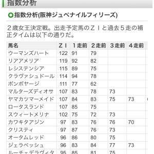 【指数だけで当てる】阪神ジュベナイルF2019 ZI指数馬 全馬ランキング 過去3年を分析した